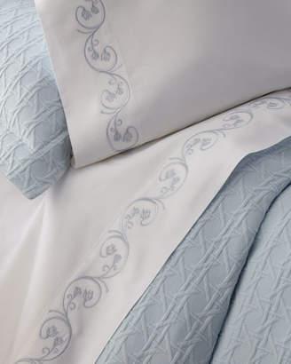 Sferra Cassy Pima Cotton Sheet Set, Twin