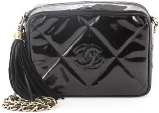 Chanel CC Camera Bag Quilted Patent Small