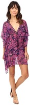 Tommy Bahama Jacobean Floral Beaded Tunic Cover-Up