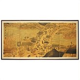Oriental Furniture Asian Art, Decor and Gifts, 36 by 72-Inch Ching Ming Festival Hand Painted Chinese Silk Wall Screen