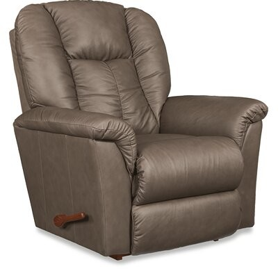 """Thumbnail for your product : La-Z-Boy Jasper 40"""" Wide Leather Match Manual Rocker Standard Recliner Upholstery Color: Fawn Leather Match"""