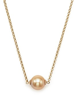 Bloomingdale's Cultured South Sea & Natural Color Golden Pearl Pendant Necklace in 14K Yellow Gold, 18 - 100% Exclusive