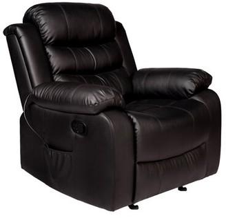 Latitude Run Oscar Massage Chair Fabric: Black