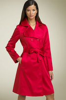 'Gia' Belted Satin Trench