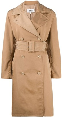 MM6 MAISON MARGIELA Double-Breasted Belted Trench Coat