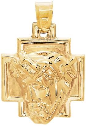 Everlasting Gold 10k Gold Christ Head Charm