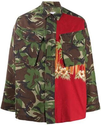 Myar Panelled Camouflage Shirt Jacket