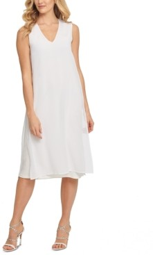 DKNY Cotton Mixed-Media Dress