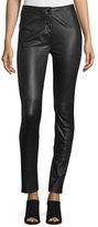 Diane von Furstenberg Warrior Paneled Leather Pants, Black