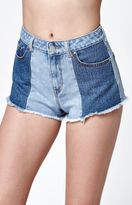 Bullhead Denim Co. Harajuku Blue Cutoff Denim Mom Shorts