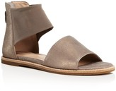 Eileen Fisher Metallic Suede and Mesh Ankle Strap Sandals
