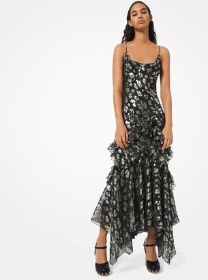 Michael Kors Python and Leopard Metallic Fil Coupe Dress