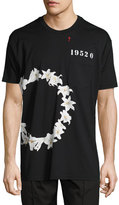 Givenchy Columbian-Fit Lily-Print T-Shirt, Black