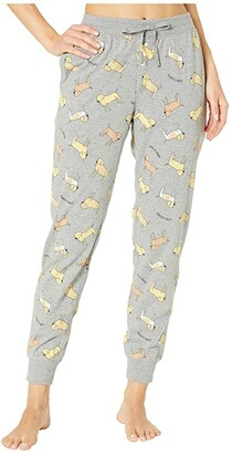 Life is Good Snuggle Up Sleep Jogger Pants (Heather Gray) Women's Pajama