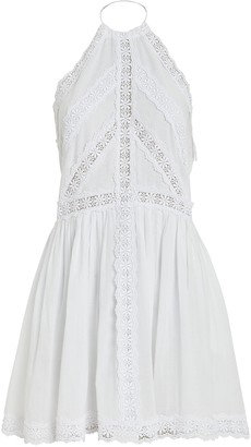 Charo Ruiz Ibiza Kim Lace-Trimmed Cotton Dress