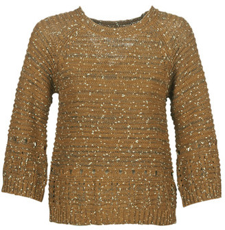 Cream NAYELI women's Sweater in Brown