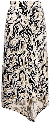 Paco Rabanne Geometric Print Midi Skirt