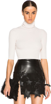 Calvin Klein Collection Tai Fitted Chenille Turtleneck