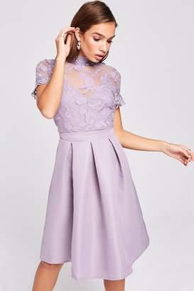 Paige Lavender Embroidered Skater Dress