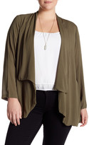 Bobeau Long Sleeve Cardigan (Plus Size)