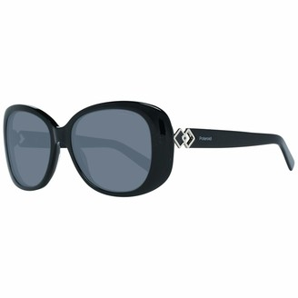 Polaroid Sunglasses Women's Pld4051us Polarized Rectangular Sunglasses BLACK 55 mm