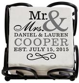 Personal Creations Personalized Mr. & Mrs. Coasters