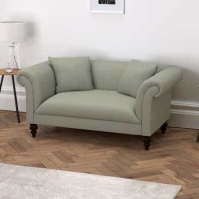 The White Company Earlsfield Wool 2 Seater Sofa, Light Grey Wool, One Size