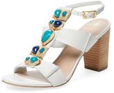 Trina Turk Silver Lake Embellished T-Strap Sandal
