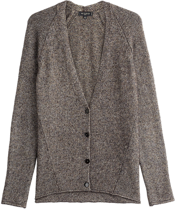 Etro Cardigan with Cashmere and Silk