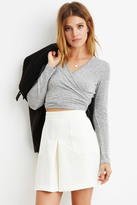 Forever 21 FOREVER 21+ Contemporary Paneled Crepe Skirt