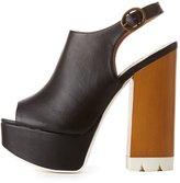 Charlotte Russe Qupid Platform Slingback Sandals