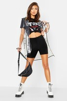 Thumbnail for your product : boohoo Transparent Rain Mac With Bound Seams