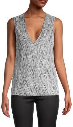 BCBGMAXAZRIA Knit Sleeveless Wrap Top