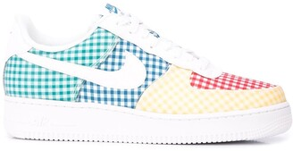 Nike Force 1 gingham sneakers
