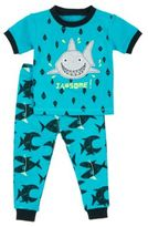 Petit Lem Little Boy's Sea Friends Shark Two-Piece Pajama Shorts Set