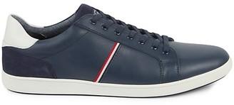 Original Penguin Leo Stripe Leather Sneakers