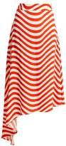 House of Holland Wave-print midi skirt