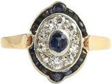 One Kings Lane Vintage Belle Époque Sapphire & Diamond Ring