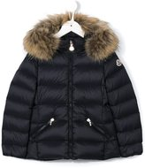 Moncler hooded down jacket - kids - Polyamide/Feather Down/Racoon Fur - 4 yrs