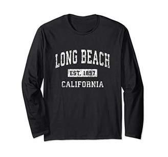 Long Beach California CA Vintage Established Sports Design Long Sleeve T-Shirt