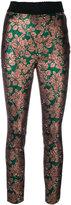 Dolce & Gabbana jacquard leaf print trousers