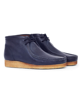 Clarks Leather Wallabee Boot Navy