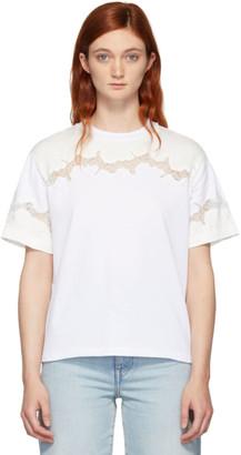 3.1 Phillip Lim White Lace Insert T-Shirt