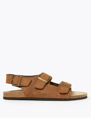 Marks and Spencer Leather Double Buckle Sandals