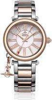 Vivienne Westwood Women's VV006PRSSL Orb Rose Analog Display Swiss Quartz Silver Watch