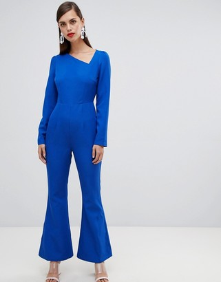 UNIQUE21 Unique 21 assymetric long sleeve jumpsuit-Blue