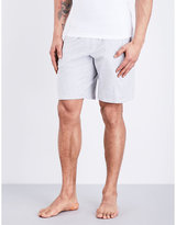 Emporio Armani Eagle Cotton-blend Shorts