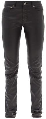 Saint Laurent Skinny-leg Leather Trousers - Black