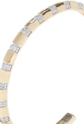 Adina Reyter 14-karat Gold Diamond Hoop Earrings
