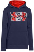 Under Armour Big Boys' UA Rival Fleece Logo X2 Hoodie Youth BLUE KNIGHT